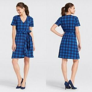 DRAPER JAMES Buffalo Plaid Wrap Dress NWT Medium